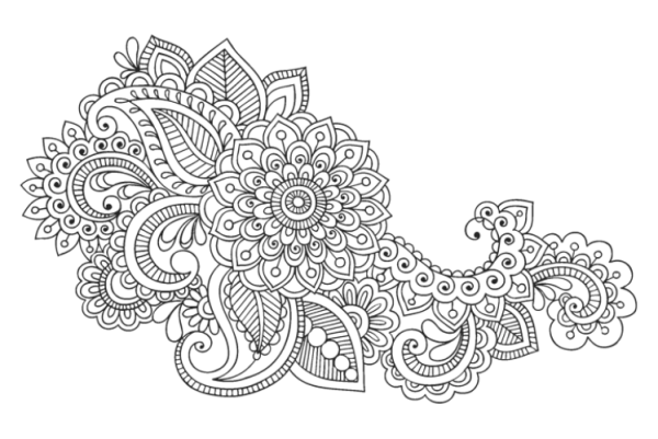 Mandala Flower Coloring Pages Difficult | Coloring Pages