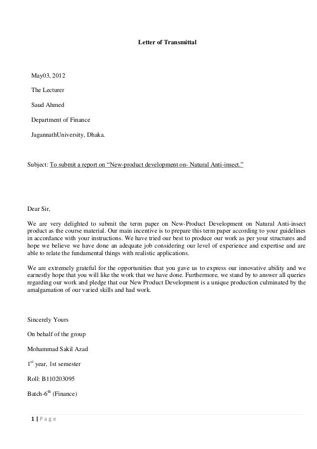 business letter assignment writing author cover Home Design Idea - example letter of transmittal