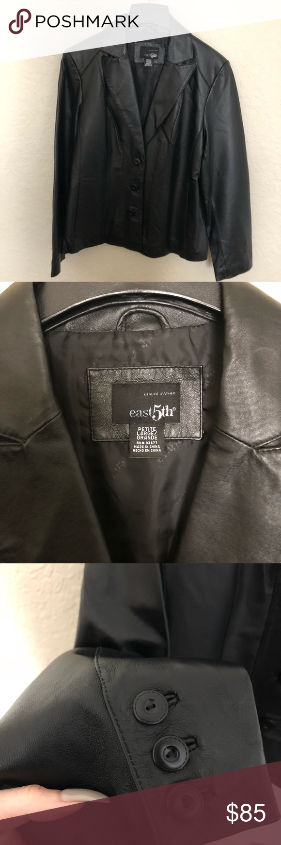 EAST 5th GENUINE LEATHER jacket BRAND NEW STILL HAS NEW