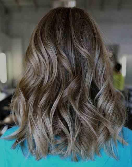Ashy Natural Hair Wavy Natural Blonde Highlights Ash Brown