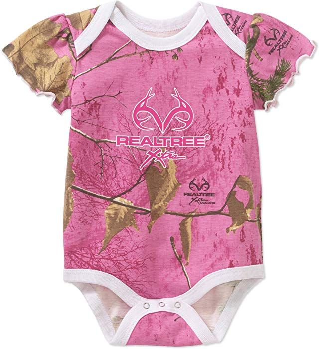 c15291817a306 Amazon.com: Realtree Assorted Baby Boys & Girls Bodysuit Dress Up Outfit  (6-9 Months, Pink REALTREE Xtra): Clothing