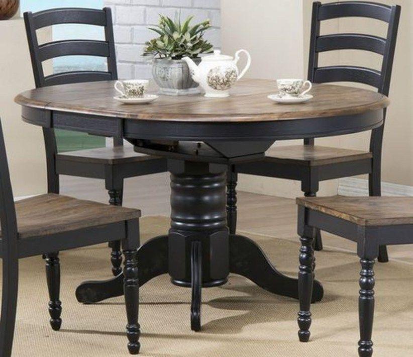 Pretty Farmhouse Black Table Design Ideas 20 Black Kitchen Table