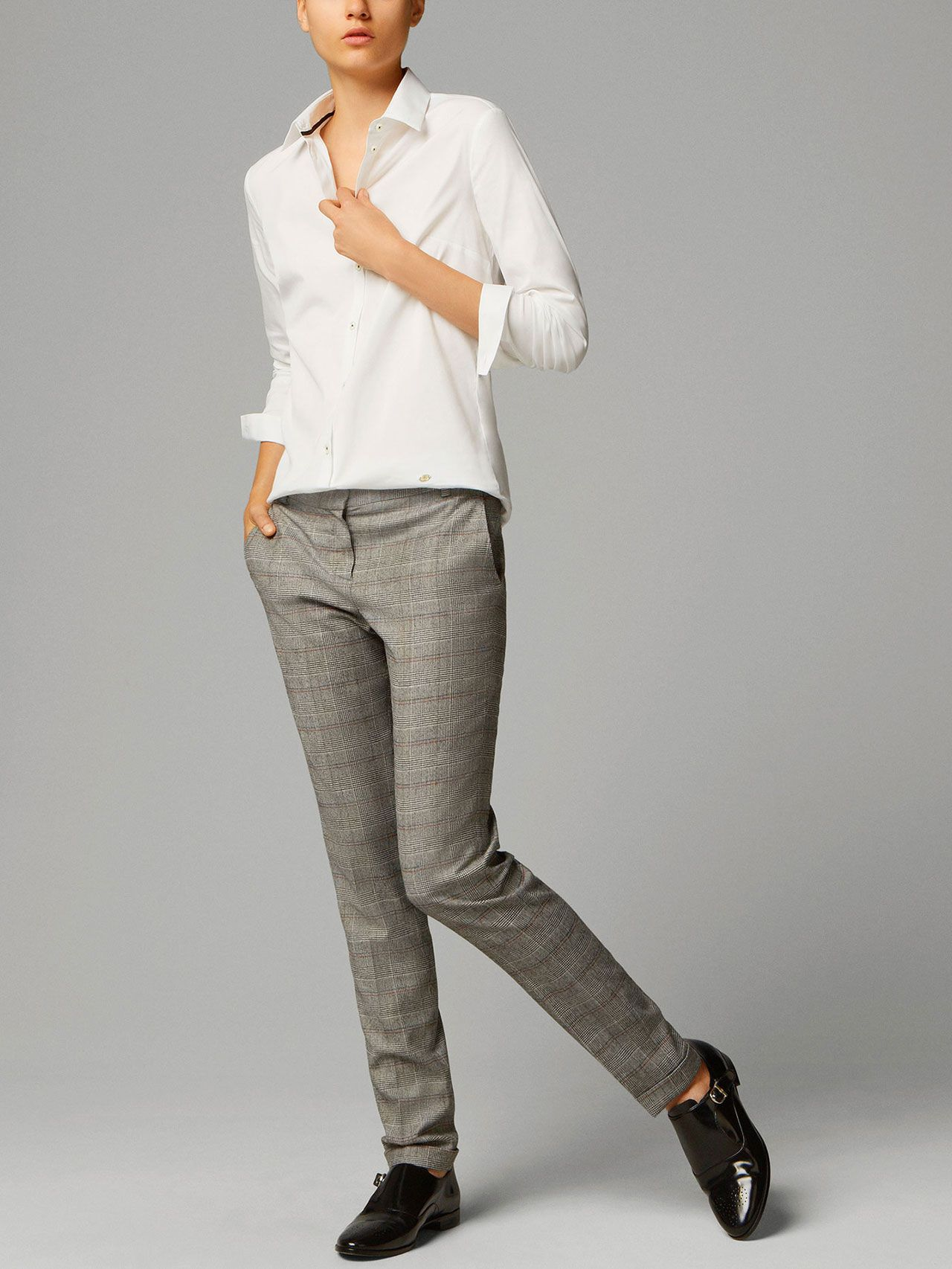 d2ce5a0f24 PRINCE OF WALES CHECK SUIT TROUSERS Pantalones De Cuadros