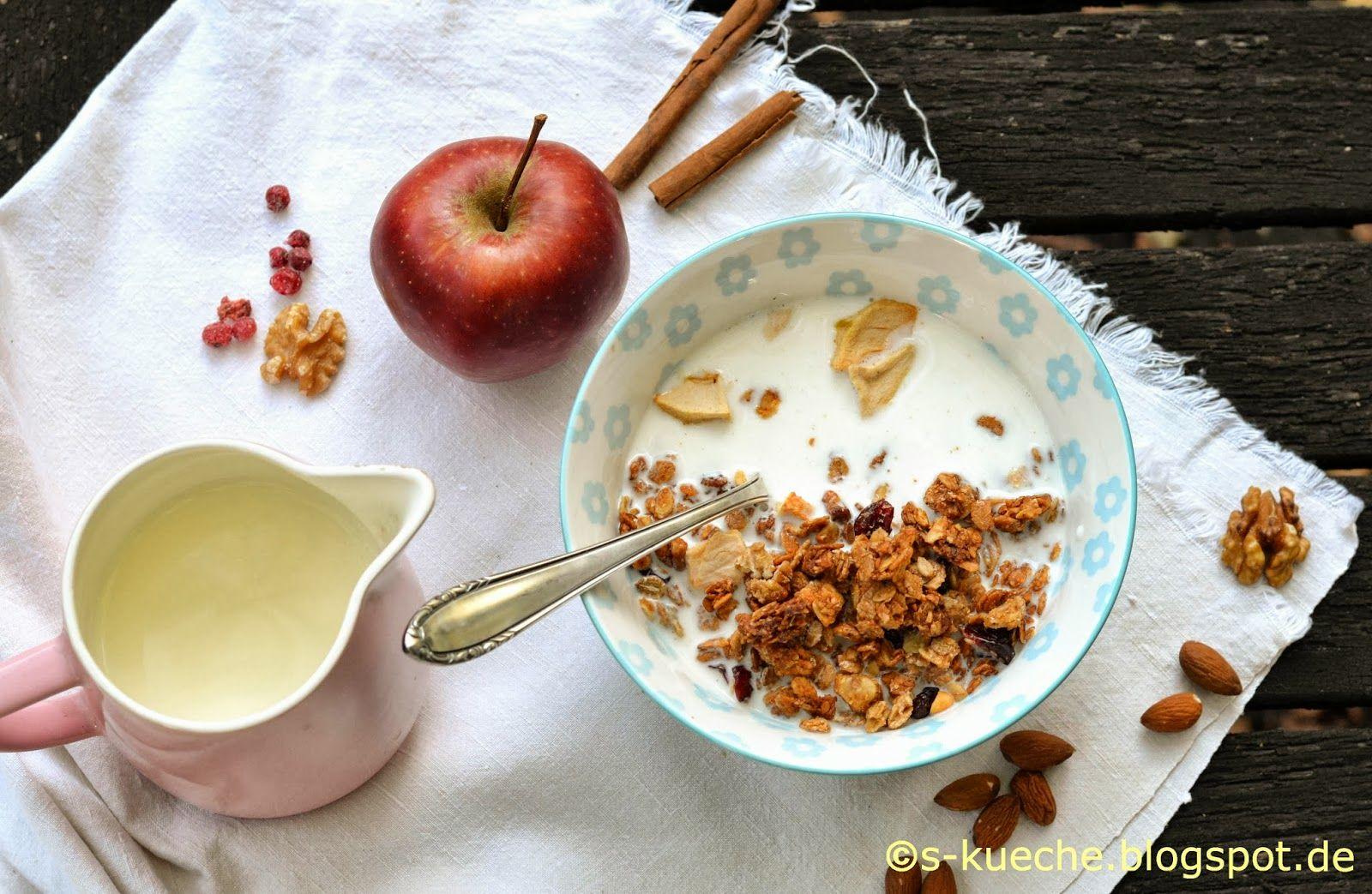 Apple Pie Granola ist mein Apfelkuchen zum Frühstück in gesunder Variante, Knuspermüsli, knackig und fruchtig, einfacht köstlich
