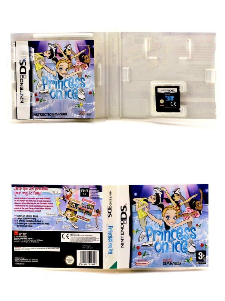 nintendo ds game princess on ice with manual ice skating dancing rh pinterest com nintendo ds game manuals download nintendo ds game manuals download
