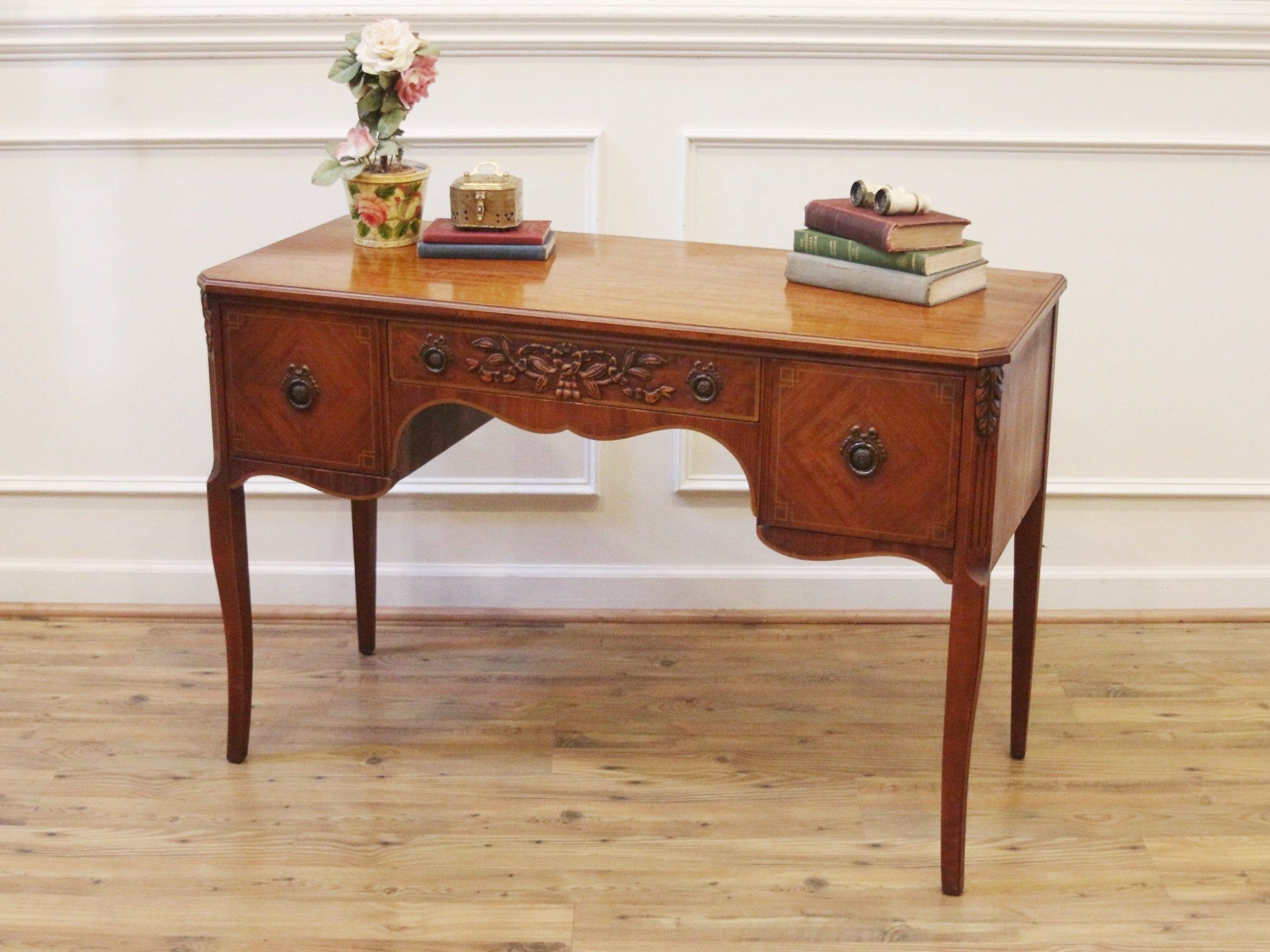 Quality Mahogany Neo Classical Style Desk Or Vanity By Landstrom