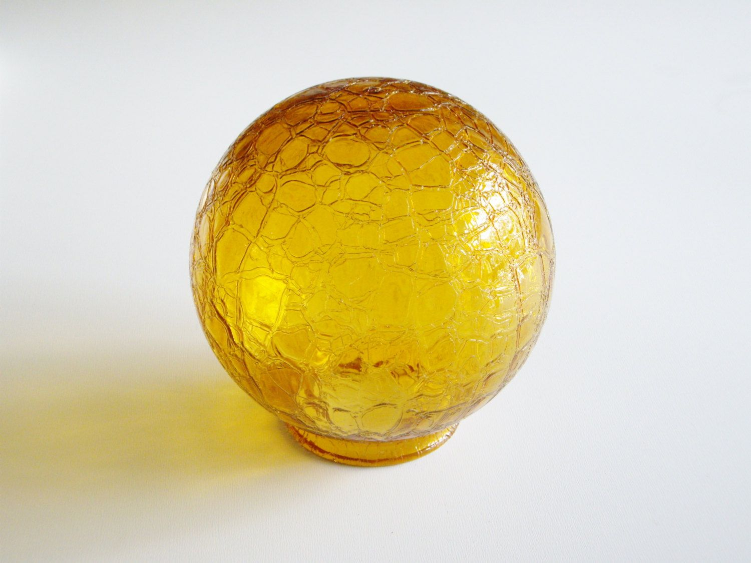 lighting globes glass. Vintage Lighting Shade Lamp Crackle Glass Globe Amber Yellow Mid Century By Vintagerous On Globes