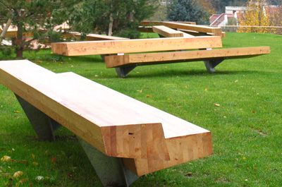 Trapecio Bench   Site Furniture   Landscape Forms