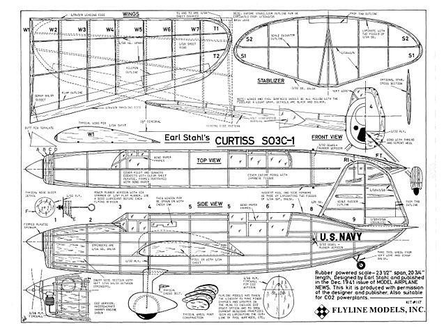 Curtiss SC  Plan Thumbnail  Balsa Wood Model Airplane Plans