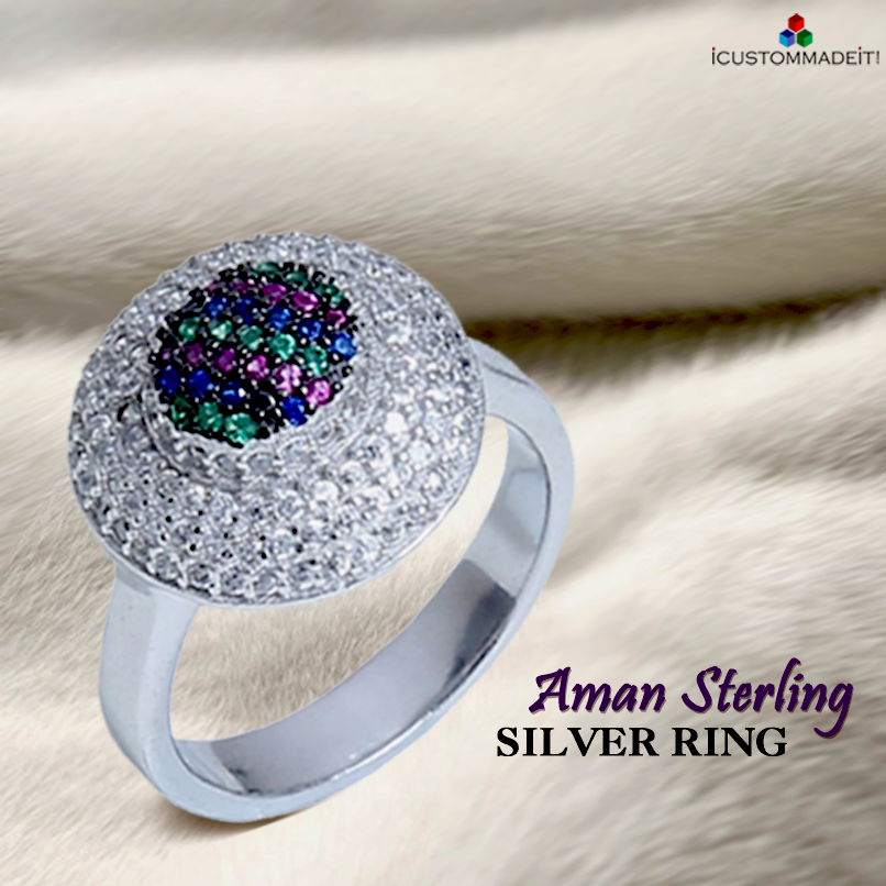 Aman Sterling Silver Ring #CustomMadeJewels #Jewelry #iCMi #iCustomMadeit #Rings #Silver