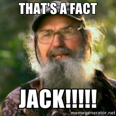 Image result for thats a fact jack meme