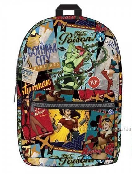 1b5b19ac3f Licensed DC Bombshells Print BACKPACK Harley Quinn Wonder Woman ANT LUCIA  PinUp. Find this Pin and more on DC Comics ...
