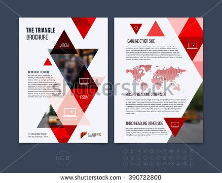 Business brochure template layout, cover design annual ...