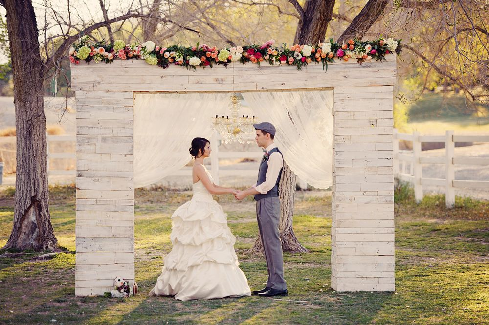 Vintage Handmade Wedding Arch At Floyd Lamb Park Las Vegas Sweet English Garden Inspiration Fl By Layers Of Lovely