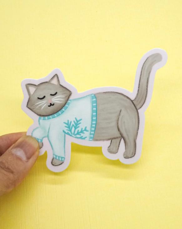 Sticker- Cozy Cat Vinyl