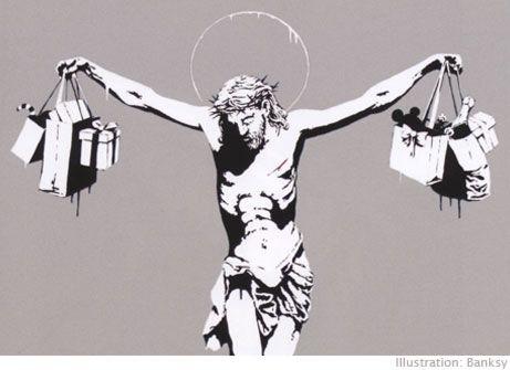 Banksy Consumer Jesus A3 A4 Poster Print