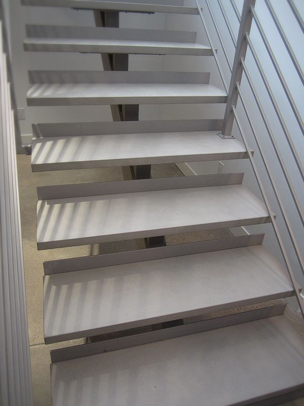 This Modern Home Features Beautiful Concrete Flooring In Addition To These  Custom Concrete Stair Treads.