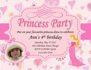 Princess Ann Pink Invite Free Invitation Template By Hloomcom - Party invitation template: princess party invitation template