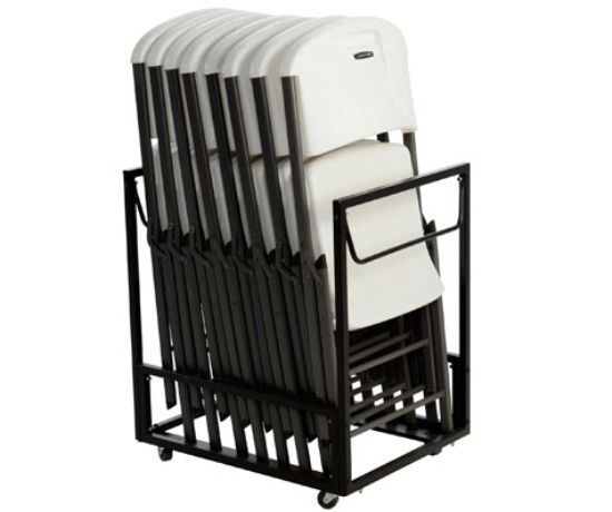 Lifetime Chair Carts 80279 Standing Folding Chair Rack In