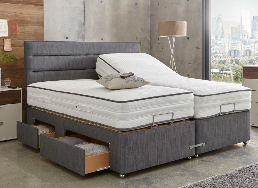Westwood Mattress With Premium Slate Adjustable Divan Bed