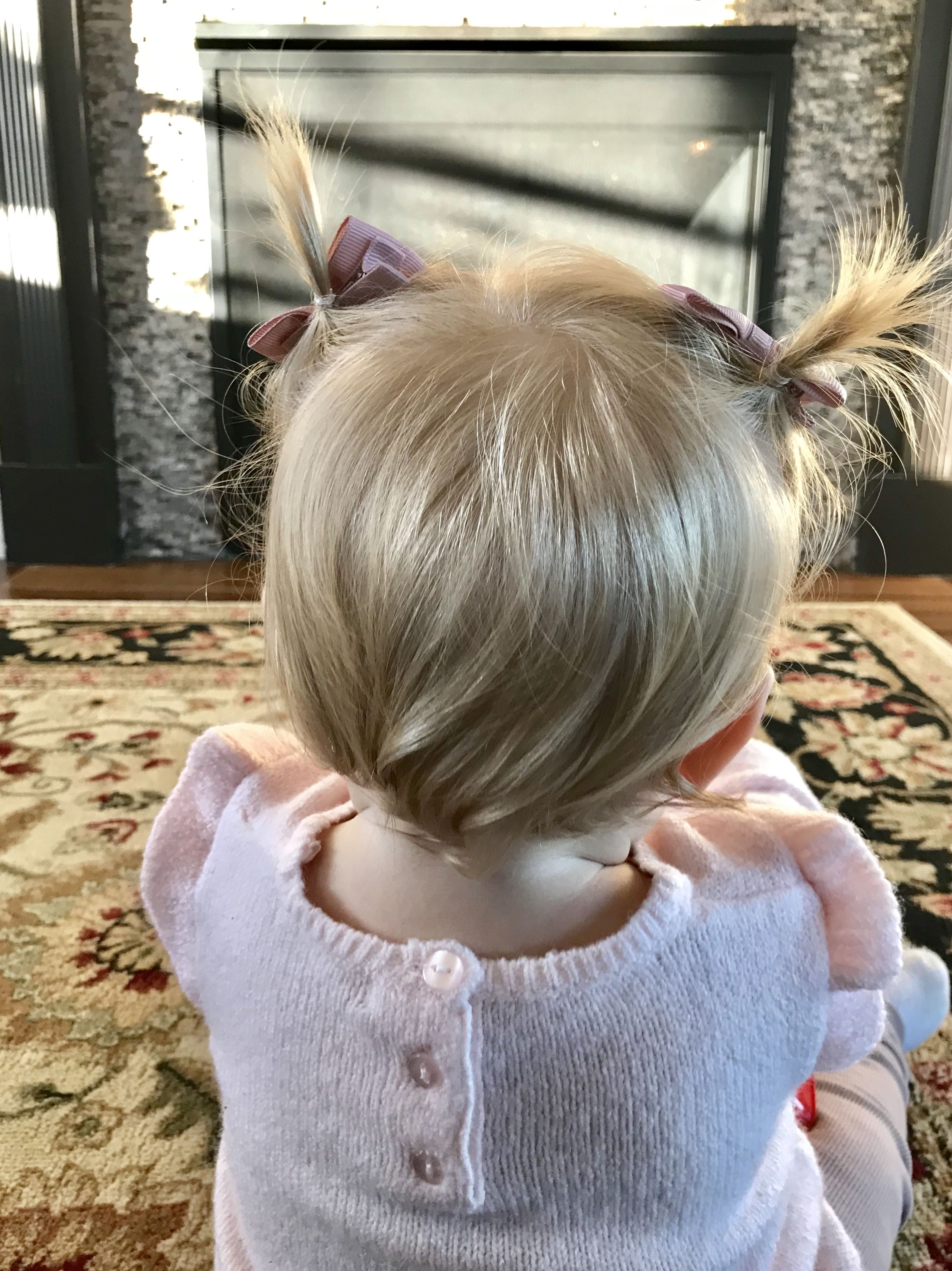 Hairstyles For 1 Year Old Baby Girl : hairstyles, Hairstyle, Blonde, Pigtails, Short, Hairstyles,