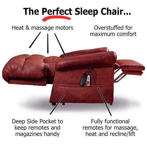 The Perfect Sleep Chair Best Sleeping Recliner Lift