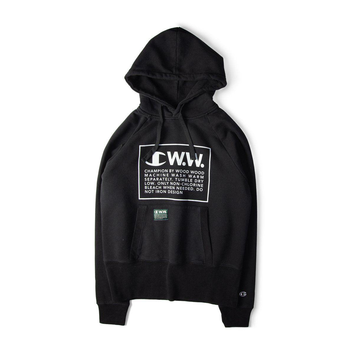 0f32311545ac Champion X Wood Wood Box Logo Hooded Sweatshirt Black Free SHIPPING OVER  £50.00 #1856 #grants1856 #grants