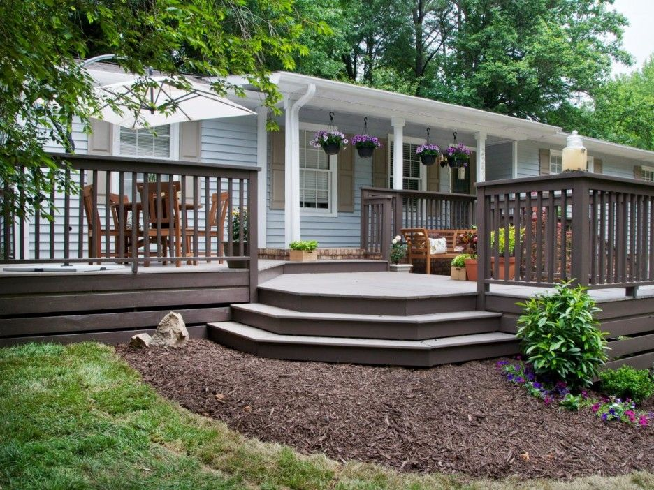 Exceptional Deck Design Front Of House Part - 3: Front Porch FRont Porch Design With Brown Wooden Deck Designed .