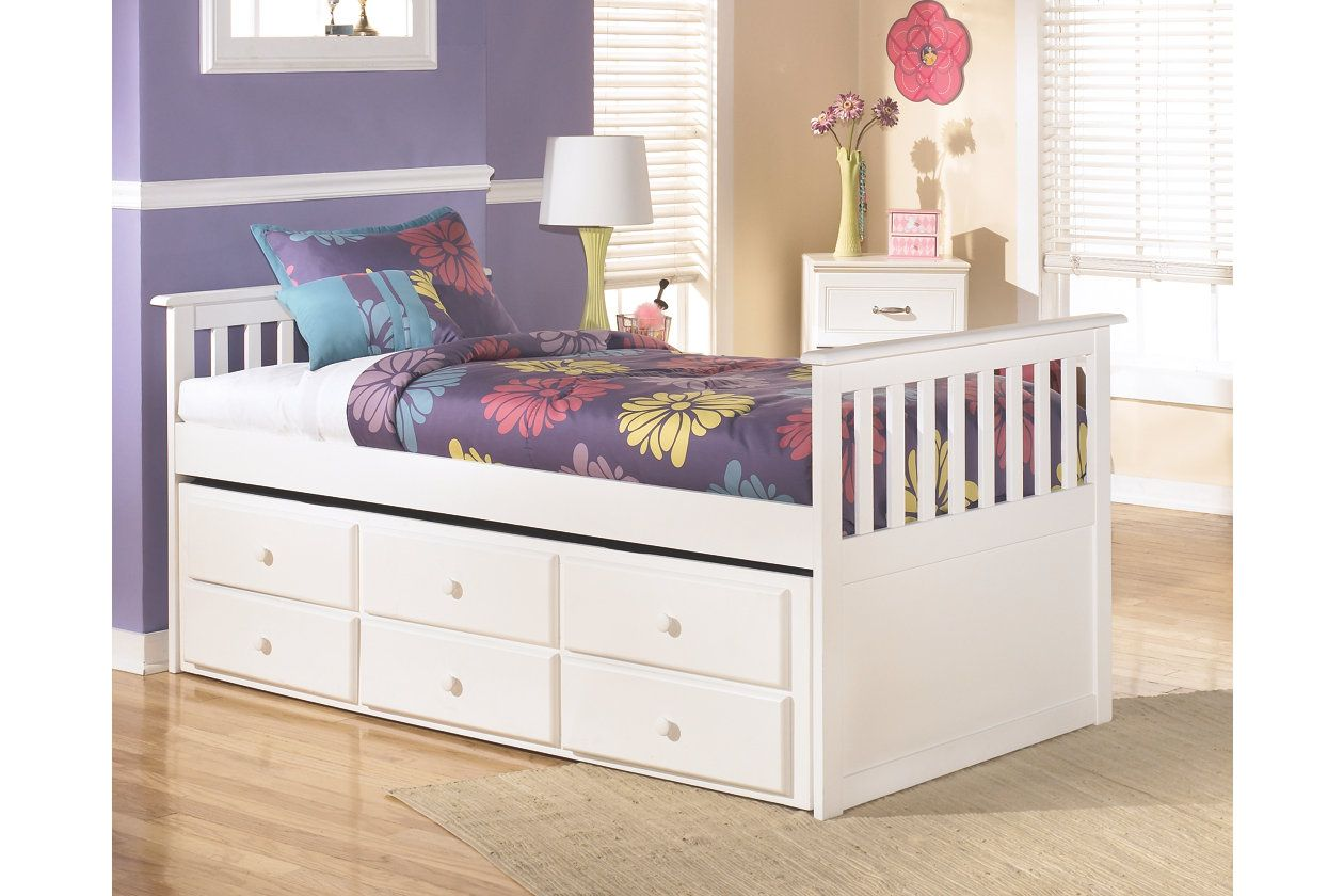 Lulu Twin Trundle Bed Ashley Furniture HomeStore (With