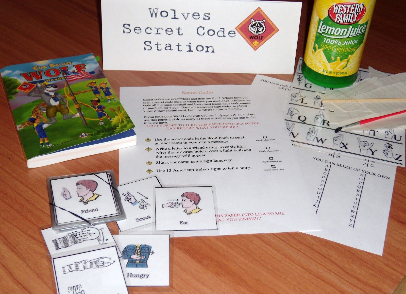 Secret Code Cub Scout Elective With Images