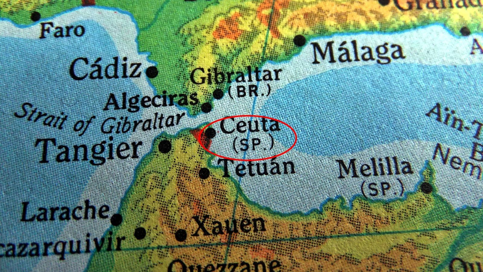 Map Of Spain And North Africa.Map Showing Ceuta Melilla Gibraltar Ceuta An Autonomous State