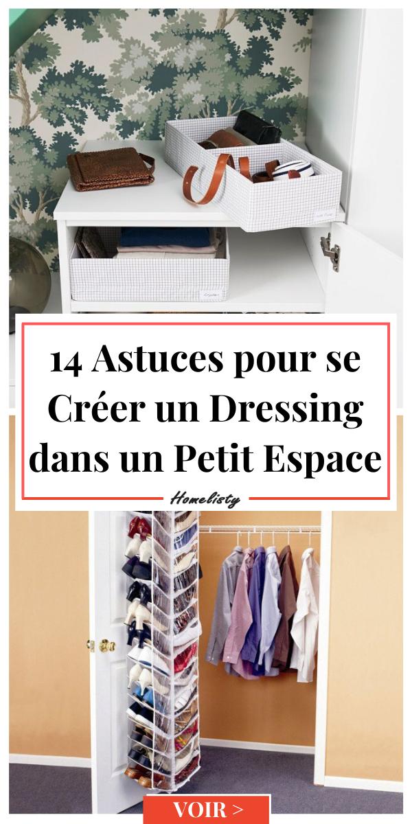 14 Astuces pour se Créer un Dressing dans un Petit Espace