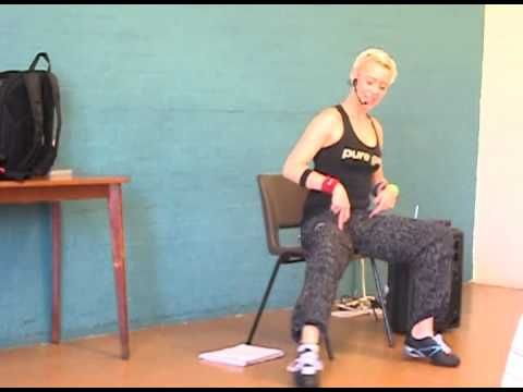 zumba gold chair class part 1 warm up  exercise