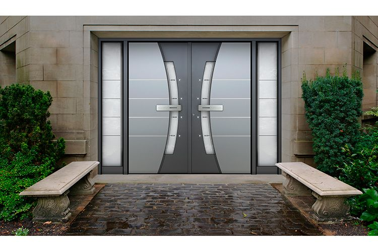 Beautiful Pirnar Premium Range Double Entrance Door, By Thermo Door Limited. With LED  Illumination, Your Door Can Shine At Night As Well As In The Sun Shine!