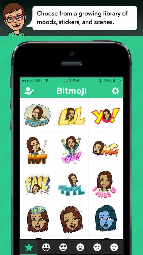 Bitmoji Custom Emoji Keyboard App Launches on iOS Emoji