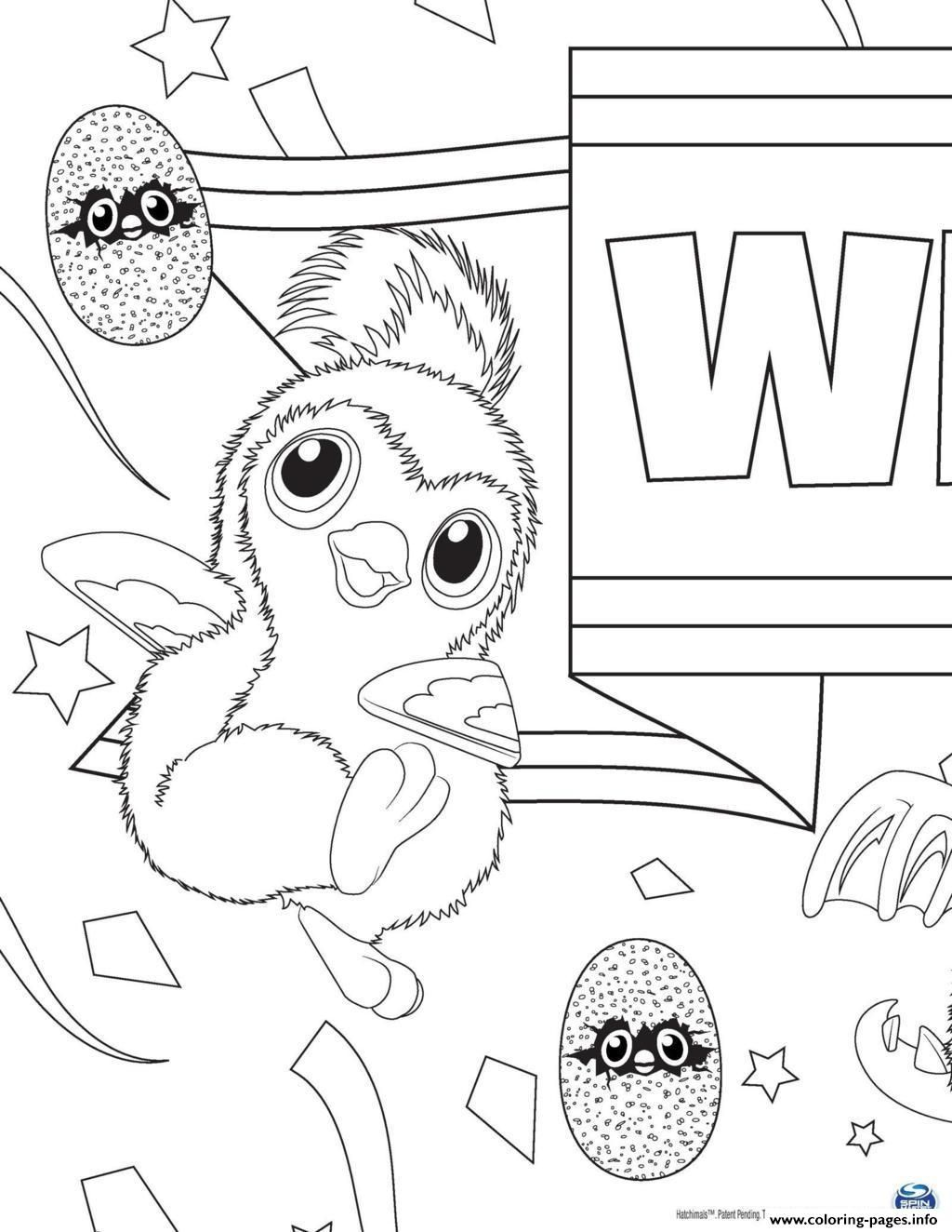 Pink coloring pages - Print Hatchy Hatchimals Penguala Pink Coloring Pages