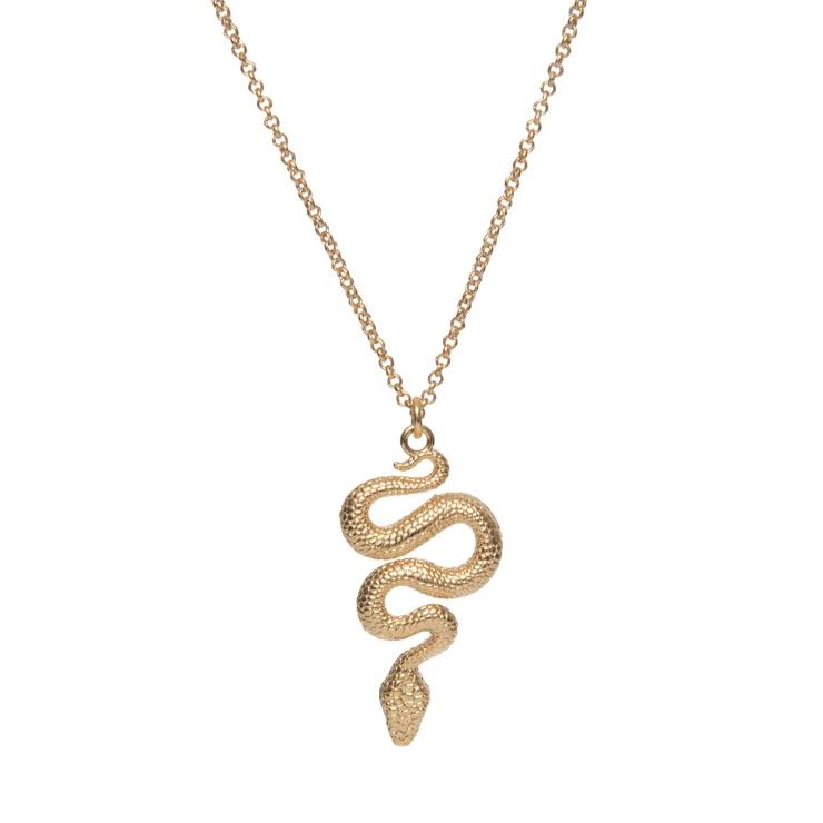 collier serpent femme