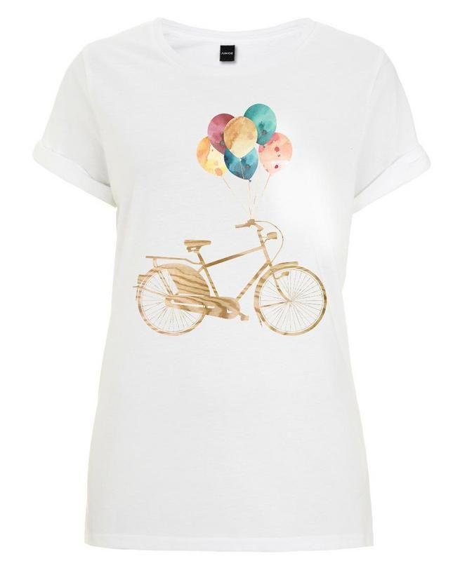bike balloons als frauen t shirt von wood ink juniqe outfit ideas pinterest. Black Bedroom Furniture Sets. Home Design Ideas