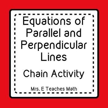 Equations Of Parallel And Perpendicular Lines Ladder Activity In