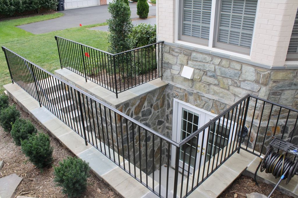Creating Well For French Door In Basement For Egress Egress Windows And Door Photo Gallery Basement Entrance Egress Window Landscaping Basement Stairs