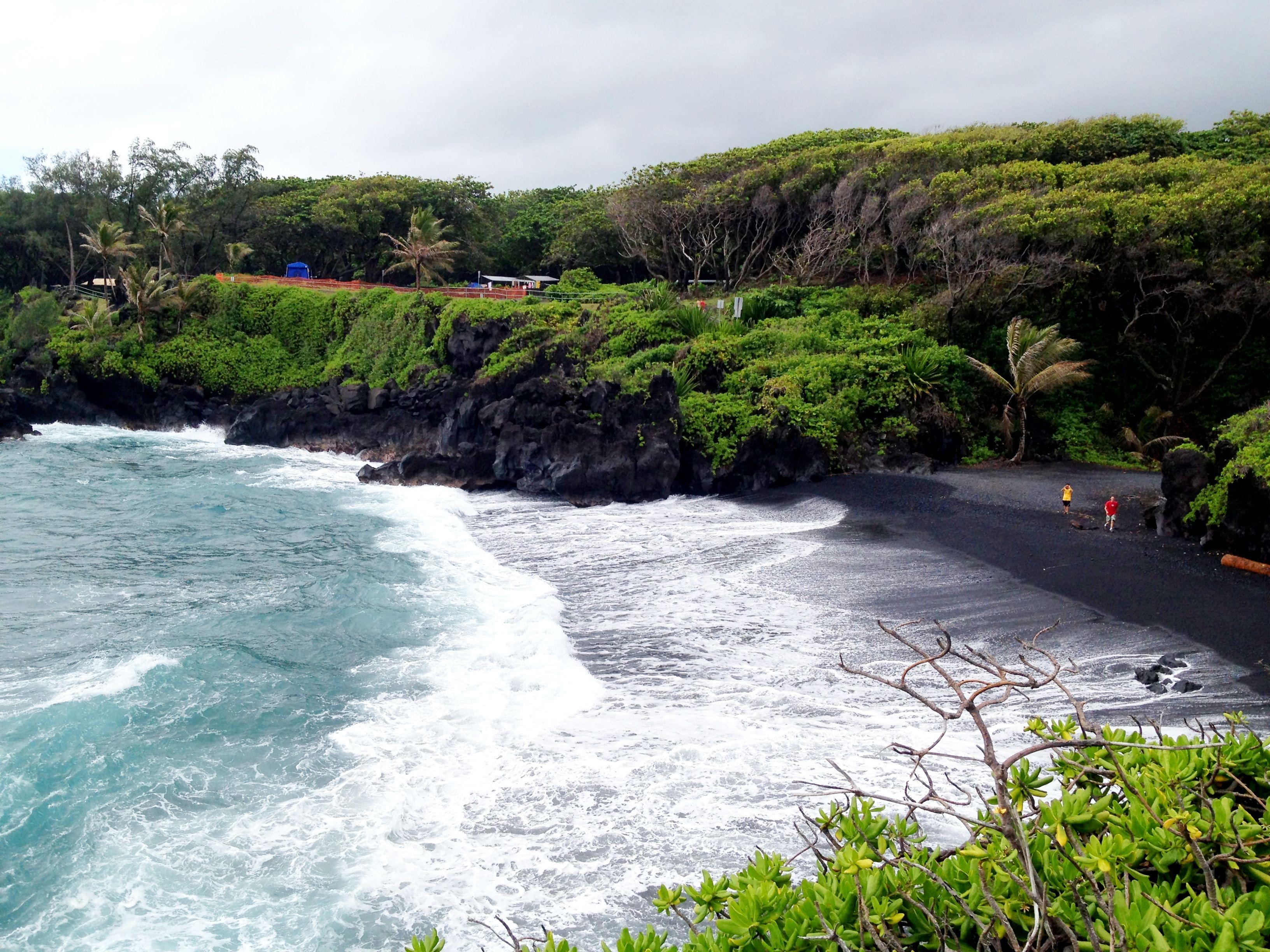 Black Sand Beach Maui,Hawaii (Road to Hana)