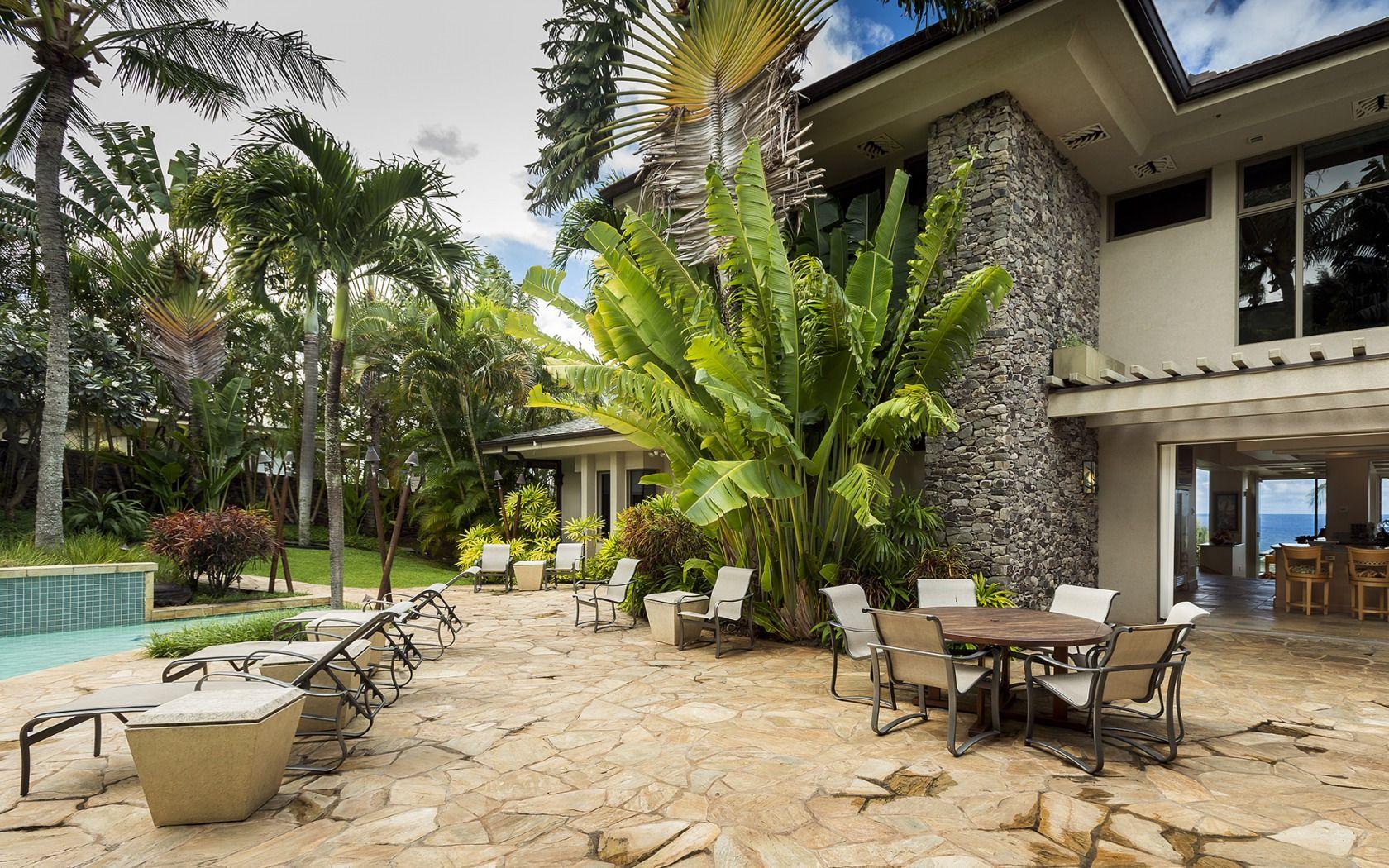 Maui, Hawaii, luxury, home, garden, palm, pool