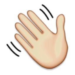 Waving Hand Emoji Hand Emoji Emoji Animated Gif