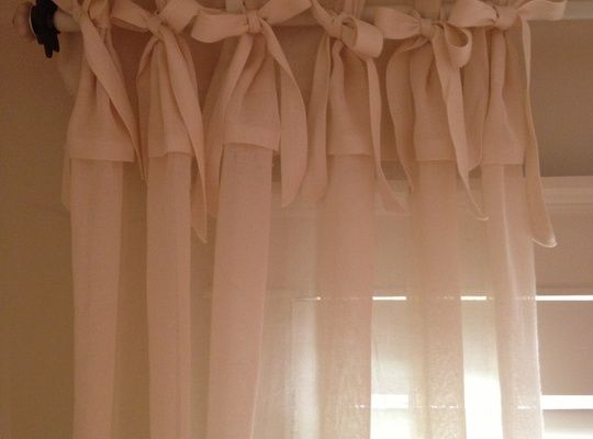 How To Make No Sew Curtain Panels With Bows And Ruffles