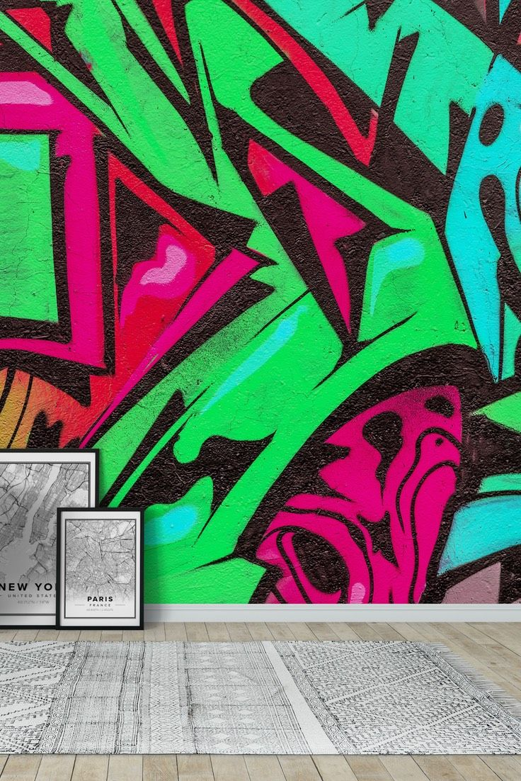 Greener graffiti Wall mural (With images) Graffiti