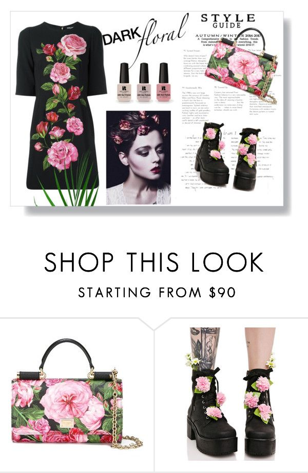 """""""Dark floral"""" by aycann ❤ liked on Polyvore featuring Dolce&Gabbana, Sugarbaby and Victoria's Secret"""