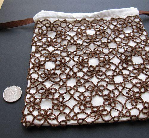 tatted drawstring bag 1 by Digital Leaf, via Flickr