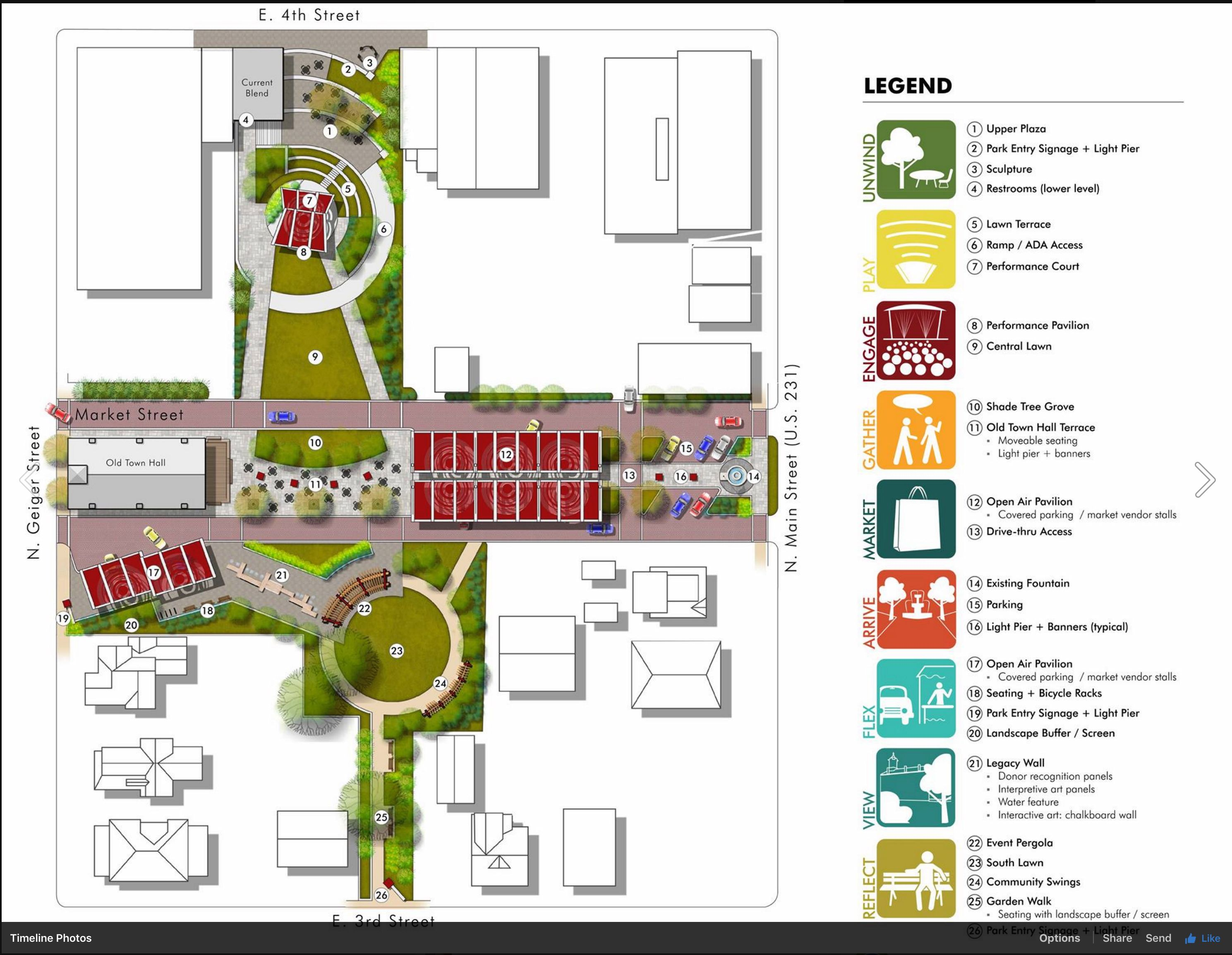Taylor Siefker Williams Design Group Is Proud To Share That The Market Street Park Project In Huntingburg Indiana 4th Street Plano Market Street