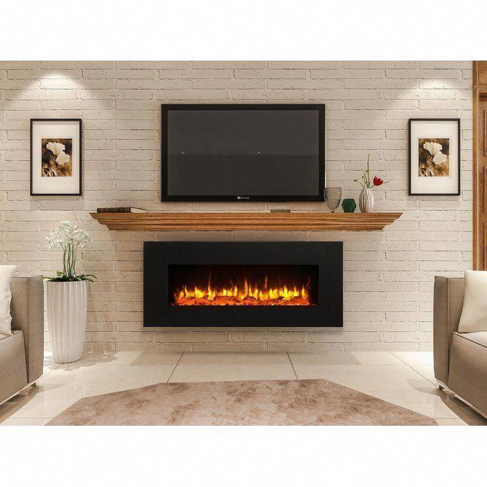 Kreiner Wall Mounted Flat Panel Electric Fireplace Wall Mount