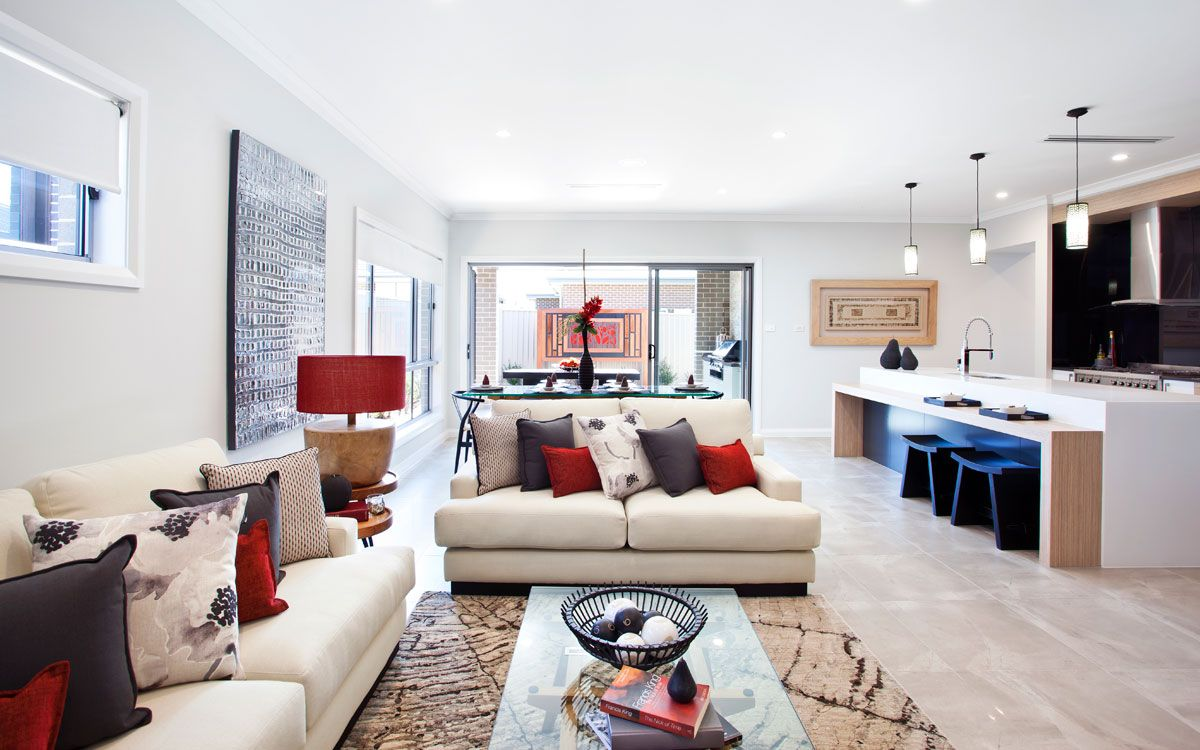 Living Area of The Opal 27 Home design display home by Kurmond Homes ...